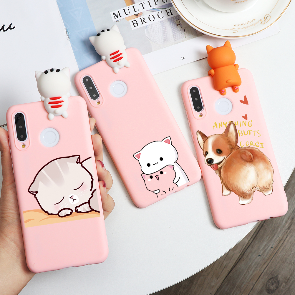 3D Doll Toys Case For <font><b>Huawei</b></font> P40 Lite Mate 30 20 10 P30 P20 Pro P10 P9 P8 Lite <font><b>2017</b></font> P Smart Y6 <font><b>Y7</b></font> Pro Y5 Y9 Prime 2019 2018 Capa image