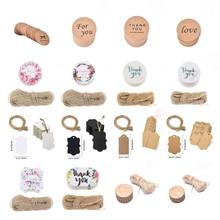 Charms-Tag Jewelry Kraft-Paper Gift Wedding-Favors Handmade Circle-Shape DIY 50/100pcs