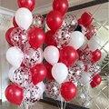 День Святого Валентина декор 30 шт Белый Красный конфетти шары комплект на день рождения Свадебная вечеринка украшения детские товары для в...