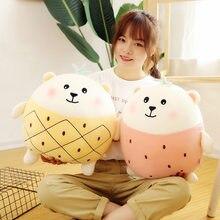 Kawaii;j/w Bear Plush Doll Baby Soft Stuffed Sleeping Bear Pillow Animal Plush Toy Kids Gifts