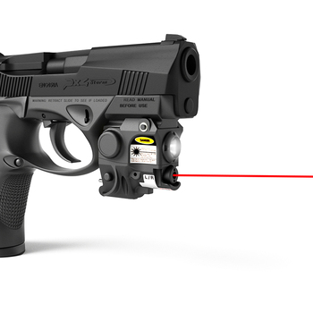 Compact Pistol Tactical LED Light with Green Dot Laser Sight for MIL-STD-1913 Picatinny Rail Taurus G2C GLOCK Ruger SR9C