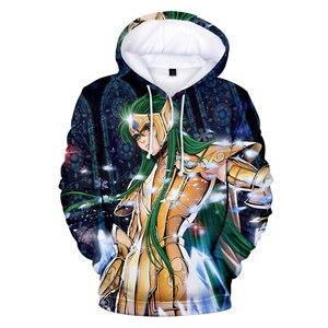 Image 2 - Saint Seiya 3D Hooded New Cartoon Sweatshirt Men Women Fashion 3D Hoodie Saint Seiya Hoodie Casual Sun Jumper