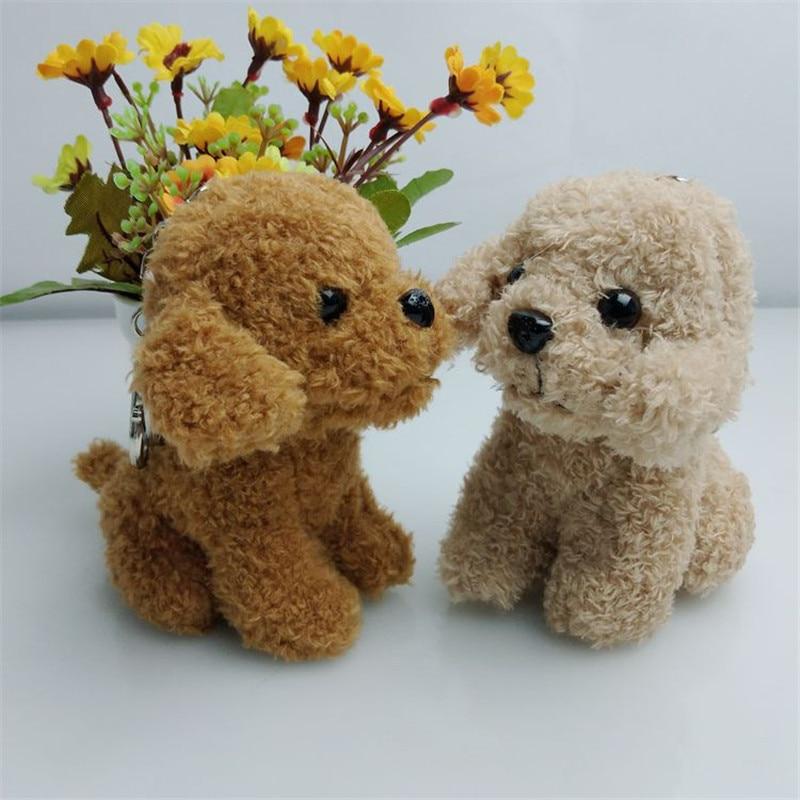 Fancy&Fantasy Trinket Mini Poodle PomPom Key Chains Women Fluffy Teddy Dog Toy Doll Plush Keychain Animal Cute Bag Charms Gift
