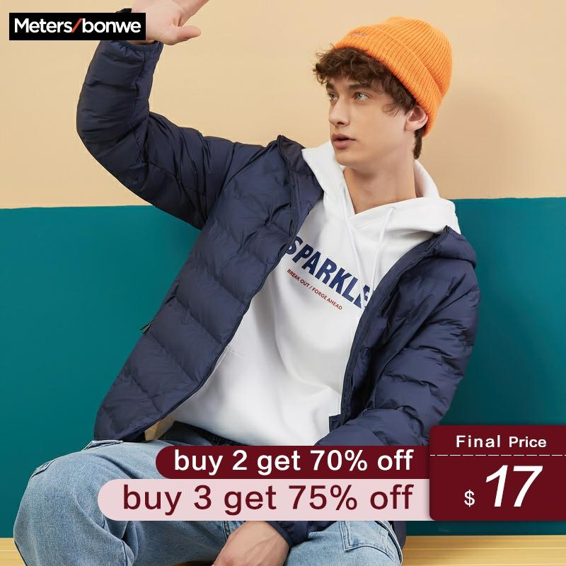 Metersbonwe Padded Coat New Autumn And Winter Men's Jacket Hooded Cotton Suit Men's Handsome Warm Student Padded Coat