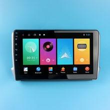 2 din android rádio do carro estéreo para peugeot 2008 208 2012-2018 10.1