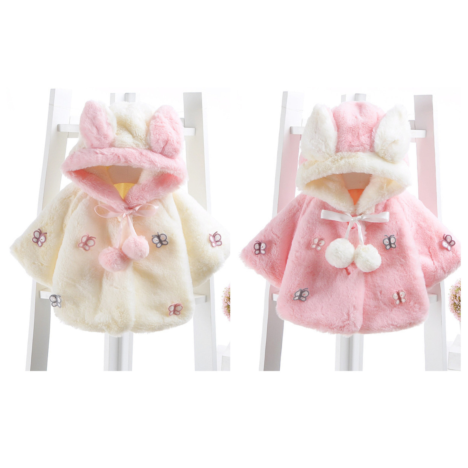 New Baby Infant Girls Fur Winter Warm Coat Cloak Jacket Thick Warm Clothes 812
