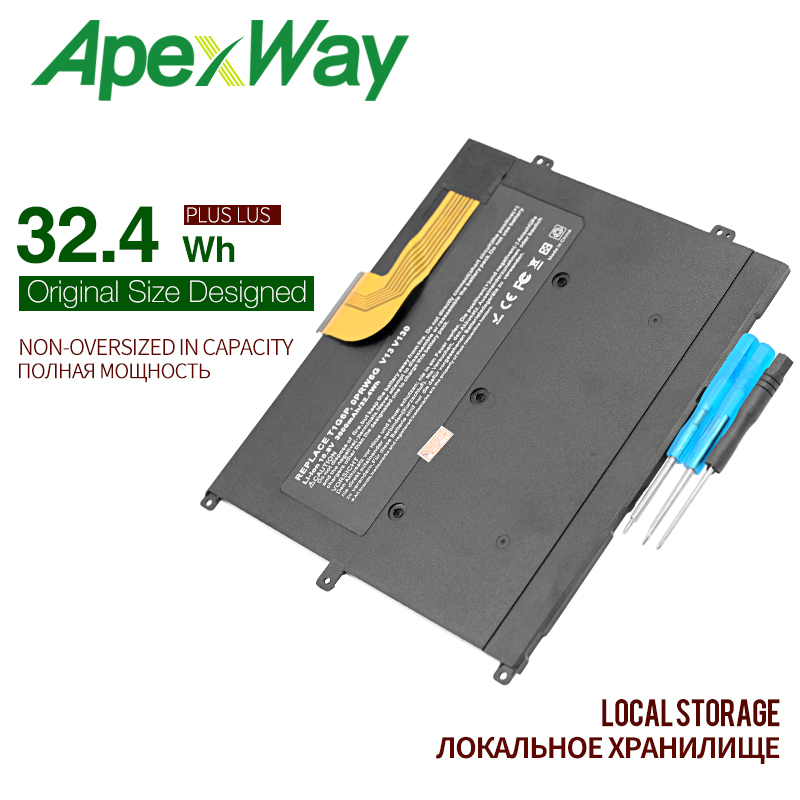 ApexWay 10.8v 32.4Wh New Laptop Battery FOR DELL Vostro V13 V13Z V130 V1300 PRW6G T1G6P 0NTG4J 0PRW6G 0449TX