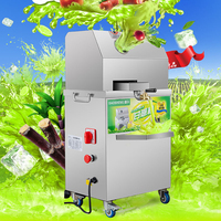 1PC Sugar Cane Machine Automatic Adjustment Sugar Cane Juicing Press Machine Stainless Steel Juicer Extractor 300kg / h SXC-80