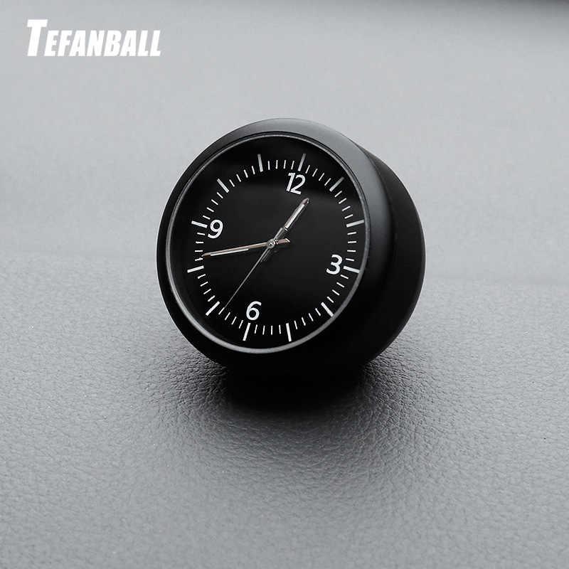 Carro Ornamento Auto Relógio de Quartzo Relógio Luminoso Automóveis Interna Automotiva Dashboard Relógio de Exibição De Tempo Em Acessórios Do Carro