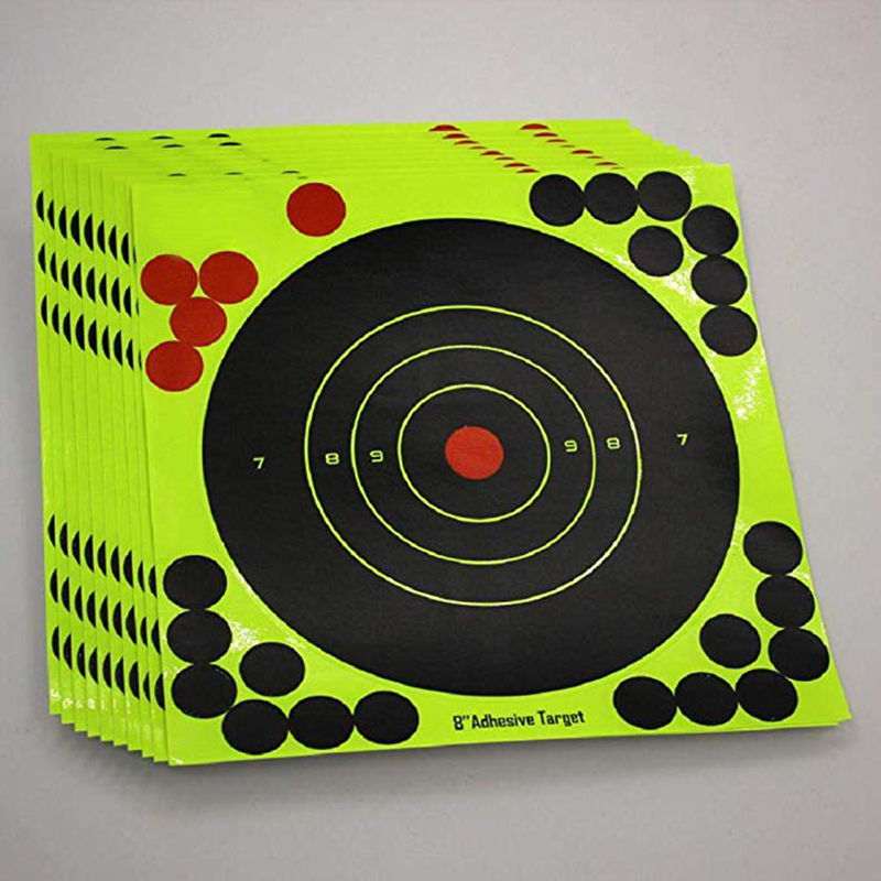 10Pcs Lot Color Splash Flower Target 8-Inch Adhesive Reactivity Target Stickers Lightweight Shoot Target Durable Reactivity Aim