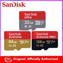 SanDisk tarjeta Micro SD 64GB tarjeta de memoria de 16gb 32gb 128GB 256GB EXTREME PRO U3 A2 4K cartao de memoria flash de tarjetas microsd