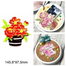 Mix Flower Leaves Flowerpot Metal Cutting Dies DIY Scrapbook Craft New Stencils Die Cut Decorate Cards Embossing Paper New 2020 cute baby clothes bow lace leather belt button metal cutting dies diy scrapbook craft new stencils make cards embossing paper