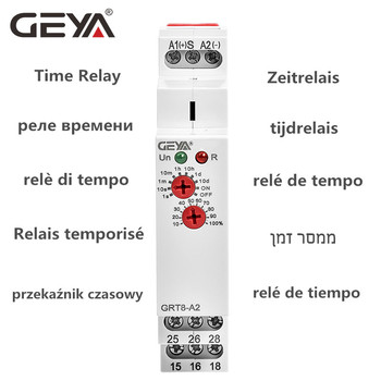 цена на GRT8-A/B Delay On or Delay Off Time Relay 12V 24V 48V 110V 220V DIN Rail Timer Relay Module with CE CB ROHS Certificate