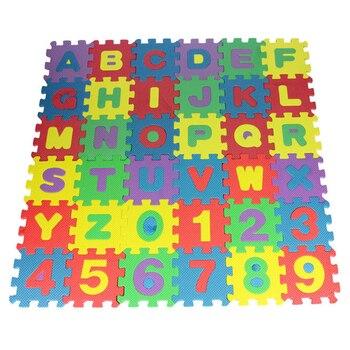 36 шт., Детский развивающий коврик из пены эва