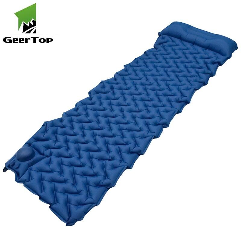GeerTop Camping Sleeping Pad Built-in Inflatable Pump 2.16