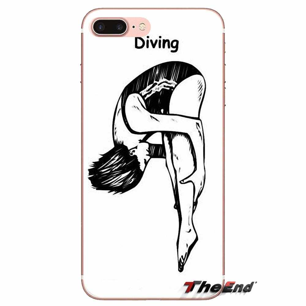 Ponsel Bag Case Olimpiade Menyelam Poster Olahraga untuk iPhone X Max XR X 4 4S 5 5S 5 5C SE 6 6S 7 7 Plus Samsung Galaxy J1 J3 J5 J7 A3 A5