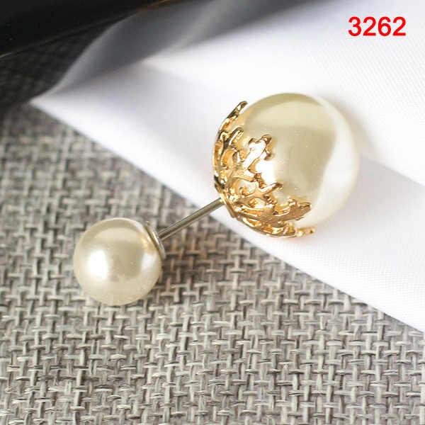 Droppshiping Baru Fashion Hot Klasik Sederhana dan Serbaguna Double-Headed Mutiara Pin untuk Shirt Sweater Pin Wanita J55