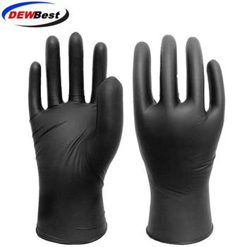 DEWBest 100pcslot rękawice mechaniczne rękawice nitrylowe czyszczenie gospodarstwa domowego mycie czarne laboratorium Nail Art antystatyczne rękawice tanie i dobre opinie Disposable Rękawice robocze OEM and DEWBEST S M L XL