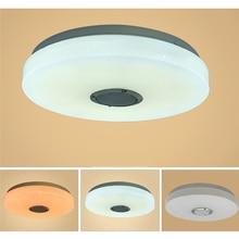 110-220V 60W WiFi RGB LED Ceiling Lights Home Lighting APP bluetooth Music Light Bedroom Lamp Smart Ceiling Lamp+Remote Control