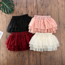 Baby girls Summer 1-5Years Kid Baby Girls Lace Tutu Skirt mini Lace Ball Gown