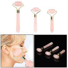 Facial Massage Roller Jade Stone Face Slimming Body Head Neck Massager Face Lift Tools Beau