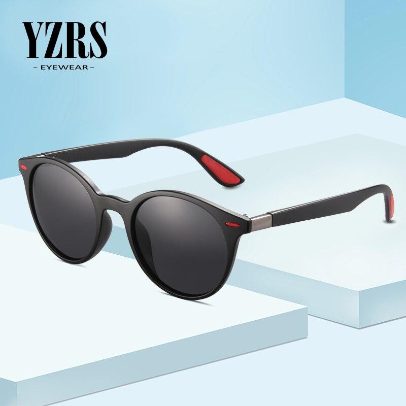 YZRS Brand Men Women Classic Retro Rivet Polarized Sunglasses Lighter Designer Oval Frame UV400 Protection Eyewear