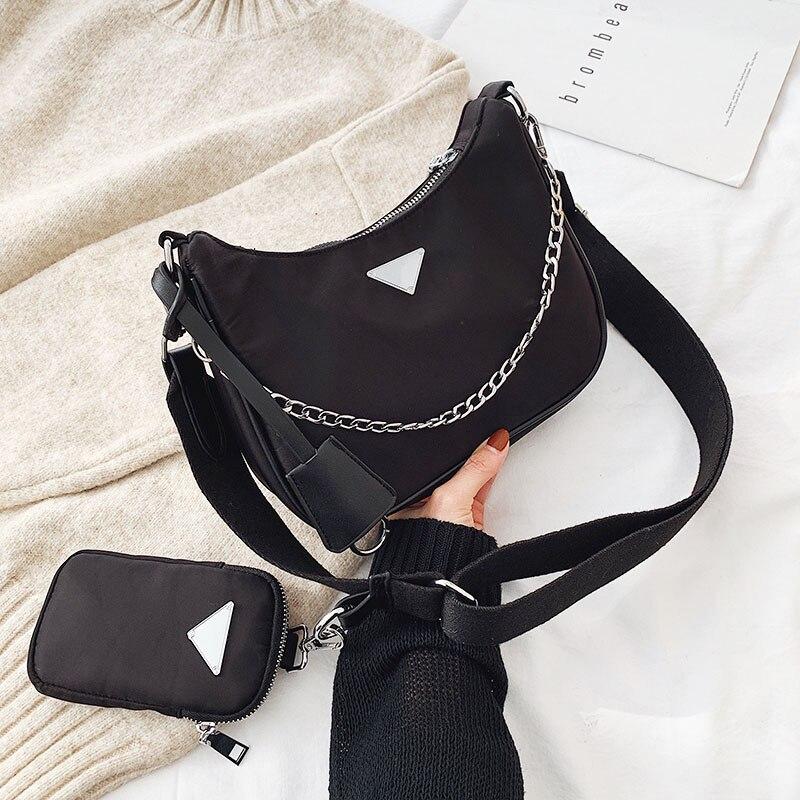 Delle donne Crossbody Bag Causale di Lusso Delle Donne Delle Borse Del Progettista Con Mini Tasca di Marca di Lusso Sacchetto del Messaggero Della Spalla Femminile