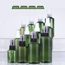 50ml 100ml 150ml 200ml escuro verde ombro conjunto plástico spray garrafa rega pode
