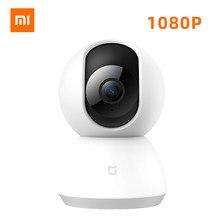 Xiaomi-Inteligentna kamera Mijia Mi 1080P IP z widokiem 360 stopni, bezprzewodowy rejestrator wideo z WiFi, noktowizorem, kamerka internetowa z zapisywaniem, bezpieczeństwo domowe