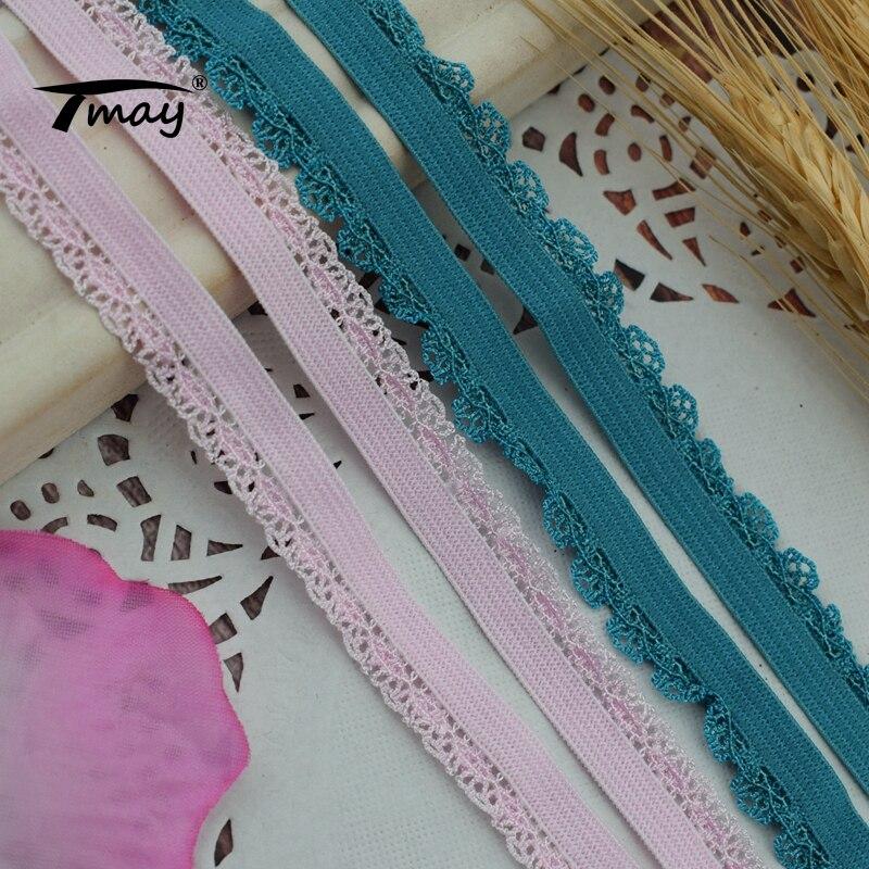 #1733 #1734 кружево Эластичная лента 8 ярдов/партия мягкий пояс волос нейлоновая тесьма ремни DIY Швейные принадлежности резинка для шитья