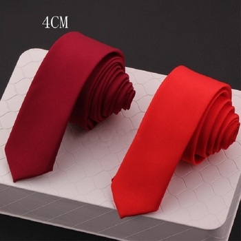 High Quality 2020 New Designers Brands Fashion Business 4cm Slim Ties for Men Matte Solid color Necktie Party Wedding with Gift