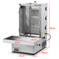 High efficiency meat roasted shawarma machine price|Food Processors|   -