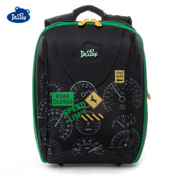 2019 Delune Brand Girls School Bags for Boys 7-111 3D Orthopedic Children School Backpack 5-9 Years 1-5 Grade Cartoon School Bag - DISCOUNT ITEM  38% OFF Luggage & Bags