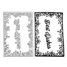 Naifumodo Dies Cutting Frame Letters Metal Bookmark for Scrapbooking Card Album Embossing Die Cut New Template