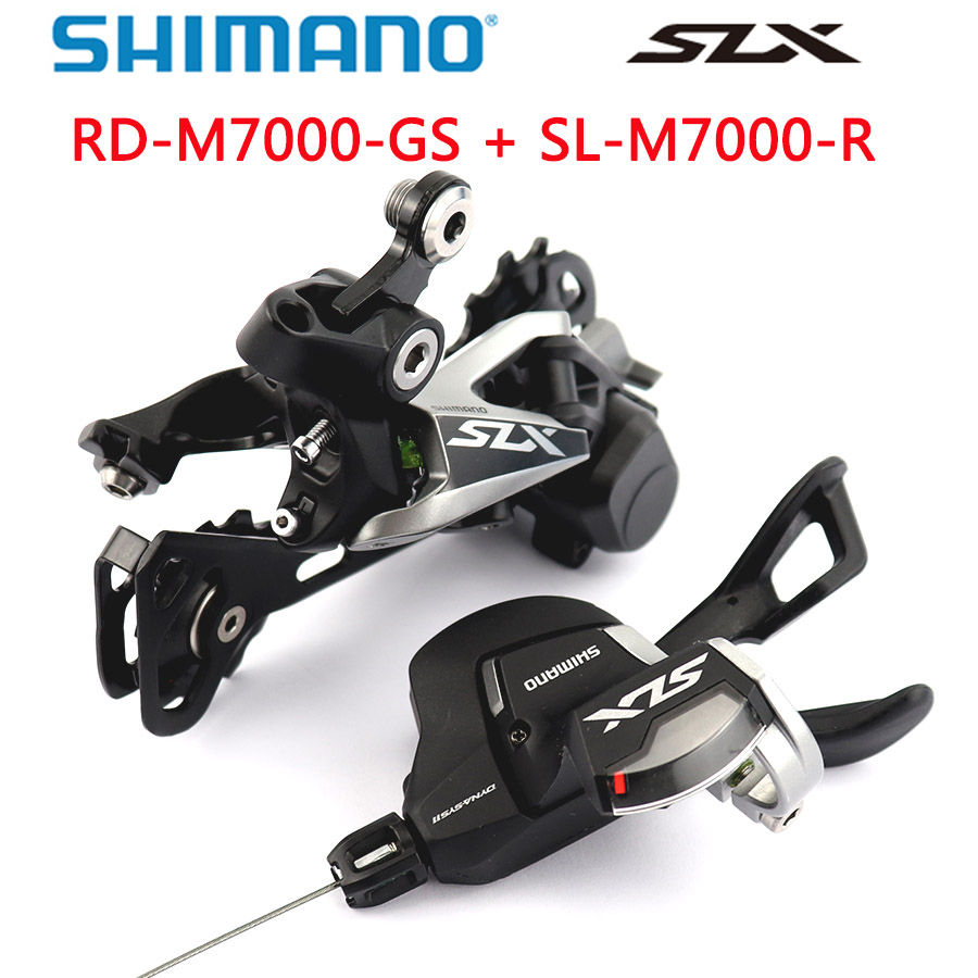 <font><b>Shimano</b></font> <font><b>SLX</b></font> <font><b>M7000</b></font> <font><b>Groupset</b></font> 11-Speed SL <font><b>M7000</b></font> Shift Lever+RD <font><b>M7000</b></font> Rear Derailleur MTB <font><b>M7000</b></font> Shifter image