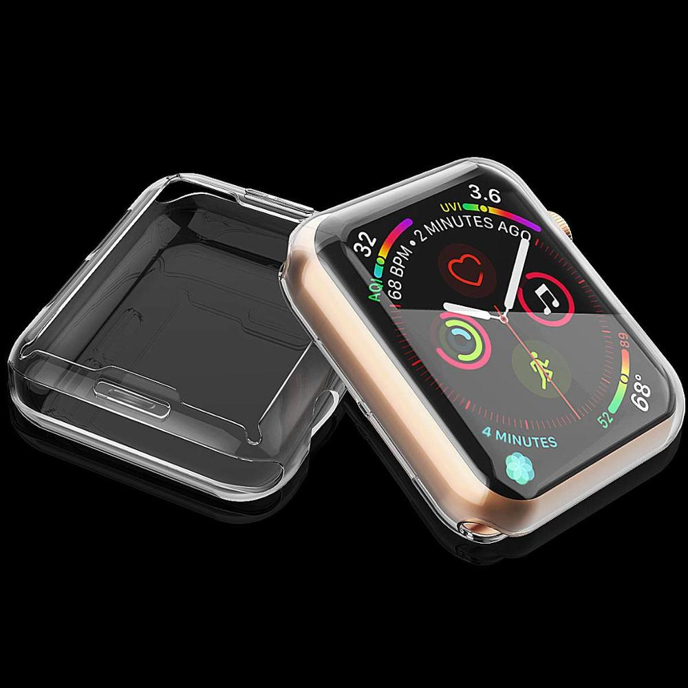 Cover For Apple Watch 5 4 Case 44mm 40mm IWatch Case 42mm 38mm Full TPU Screen Protector Bumper Apple Watch 3 2 1 44 Accessories