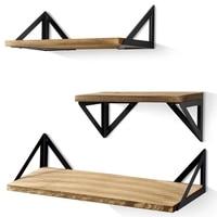 Floating Shelves Wall Mounted  Rustic Wood Wall Shelves Set of 3 for Bedroom  Bathroom  Living Room  Kitchen|Racks & Holders| |  -