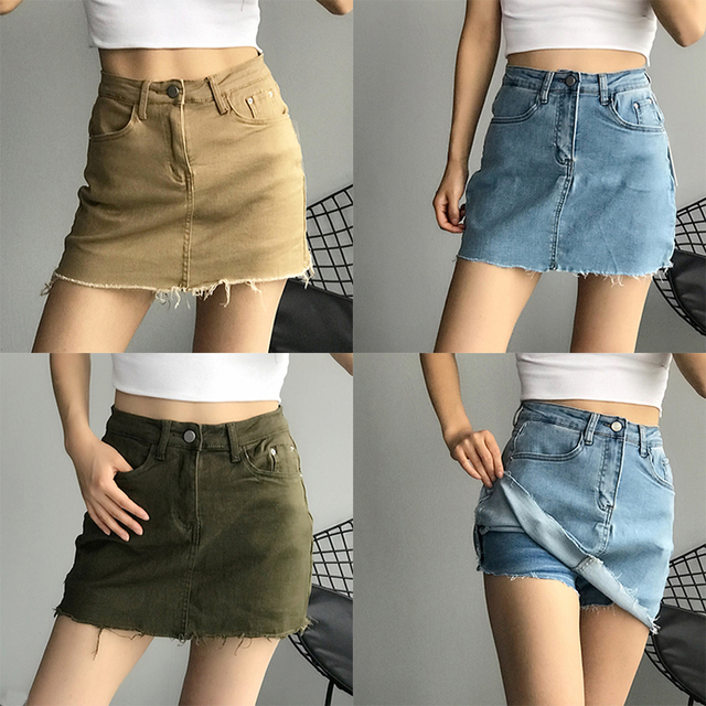 GOPLUS Women Denim Shorts Skirts High Waisted Shorts Black White Summer Clothes Mujer Female Jeans Spodenki Ropa Mujer C9806 2