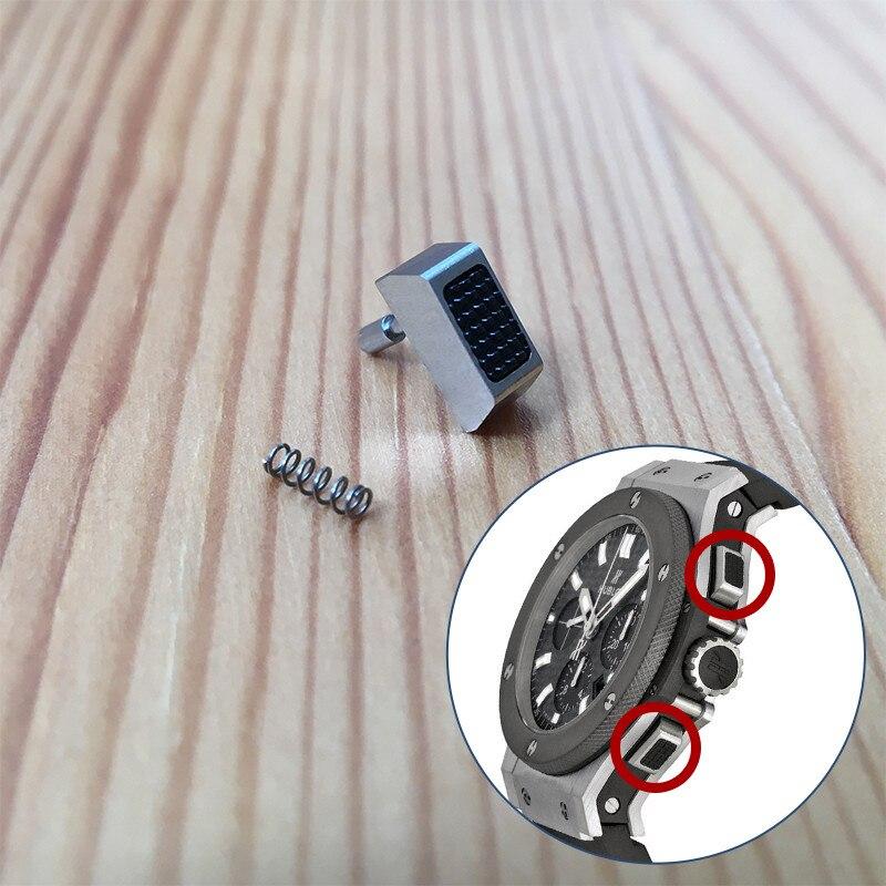 Saatler'ten Onarım Araçları ve Kitleri'de Hub su geçirmez izle itici HUB için Hublot big bang 44mm chronograph orijinal izle basın düğmesi izle parçaları araçları'da  Grup 1