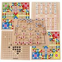 Шашки аэроплан шахматы для маленьких детей многофункциональная настольная игра в шахматы 6-10 лет пять в ряд змеи и лестницы Educ