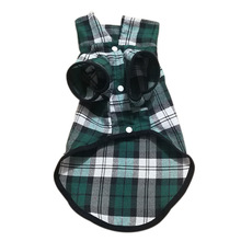 Dog Shirt plaid Cotton Plaid Pet Clothes dog costume  costumes for small dogs clothes 100%