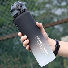 Spor su şişeleri taşınabilir tritan spor salonu su şişesi Anti-fall sızdırmaz büyük kapasiteli spor su ısıtıcısı plastik içme şişesi BPA ücretsiz