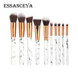 Image 3 - Набор кисточек для макияжа ESSANCEYA, набор кисточек для макияжа с мраморным узором для пудры, основы для век, 7/10/20 шт.