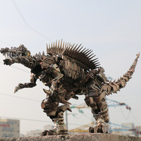 AOYI LS11 LS 11 Transformation Action Figure Deformation 37cm Scorn Dinobots Ancient Behemoth Dinosaur Movie Model Alloy Abs KO