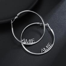 Big-Hoop-Earrings Party-Jewelry Name Custom Fashiom Personalized Women MYDIY for 3-Color