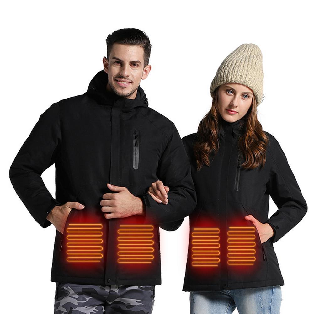 Winter USB Charging Heating Jacket Waterproof Ski Top Coat Winter USB Charging Heating Jacket Waterproof Ski Top Coat