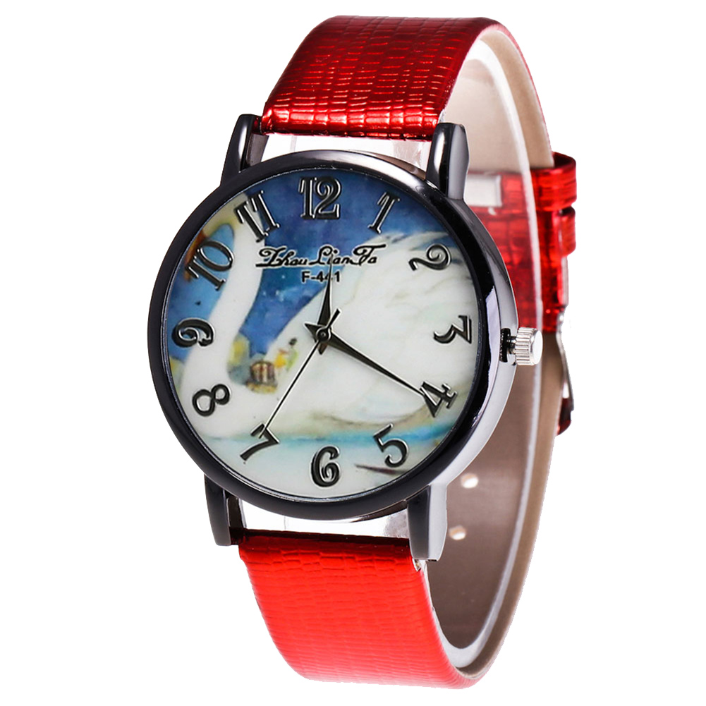 Retro Fashion Men Women Casual Watches Quartz Watch Round Dial Faux Leather Watches Gifts For Couple Birthday  LL@17