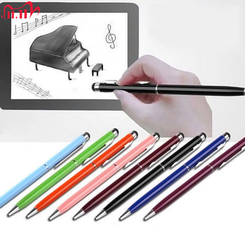 5pcs 2in1 Touch Screen Stylus Pen+Ballpoint Pen for iPad iPhone Tablet Smartphone radom colors