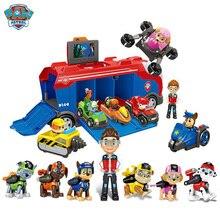 Paw Patrol спасательный автобус серии Patrulla Canina, набор игрушек, собачий патруль, погоня, автомобиль Маршалла, фигурка, дети, подарок на день рождения