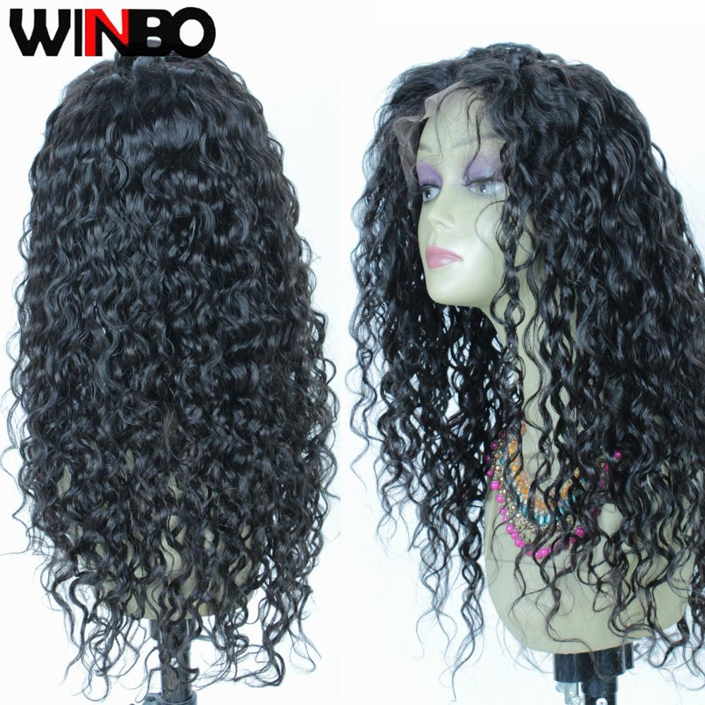 WINBO 13x4/6 Lace Front Human Hair Wigs For Black Women Pre-plucked Brazilian Remy Hair Lace Frontal Wigs Natural Color